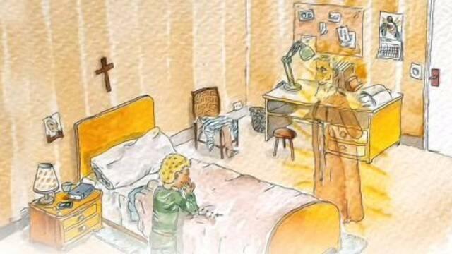 """Ilustraciones de """"Padre Pío, el amigo de Jesús""""."""