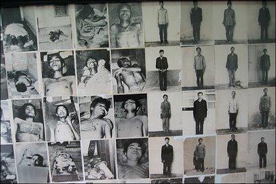 Fotos de víctimas del genocidio comunista camboyano
