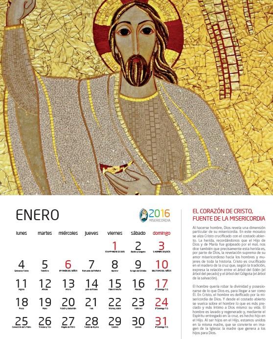 Calendario Santoral.Rupnik En Nuestra Pared Mes A Mes Un Calendario Santoral