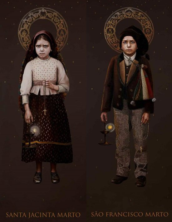 Retratos oficiales de la canonización, realizados por Silvia Patrício.