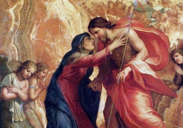 Resultado de imagen para la virgen maria y la resurreccion de jesus