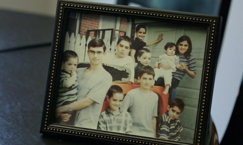 Los diez hermanos Palombo, juntos