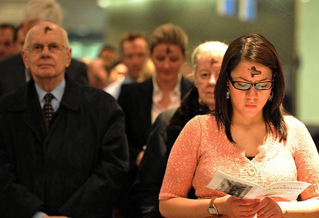 Miércoles de Ceniza, con la cruz en la frente