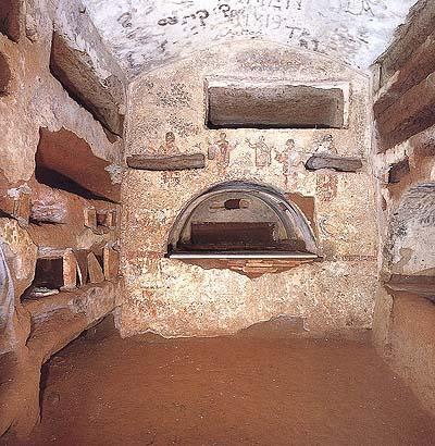 Arcosolio de la catacumba de San Calixto