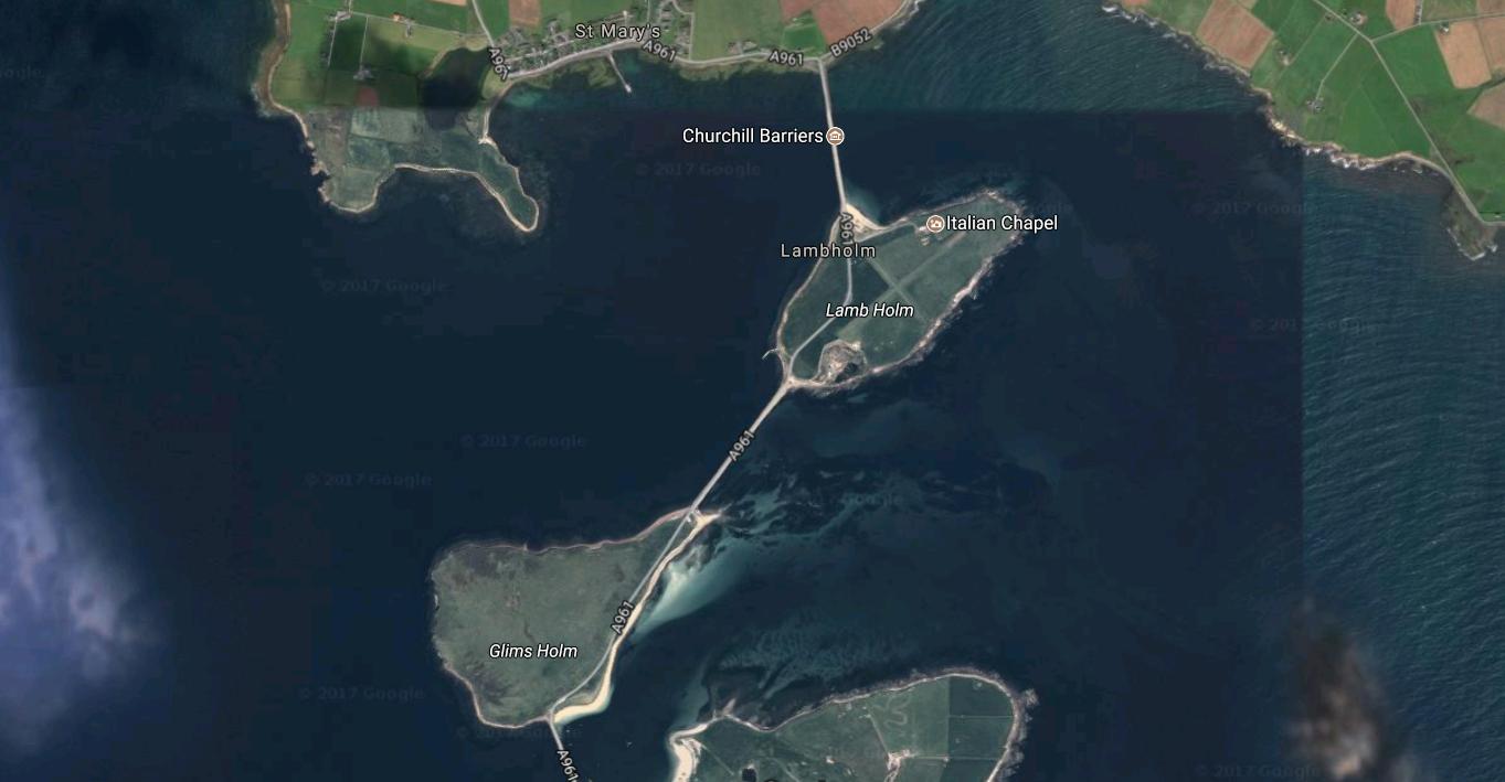 Las islas Orcadas.