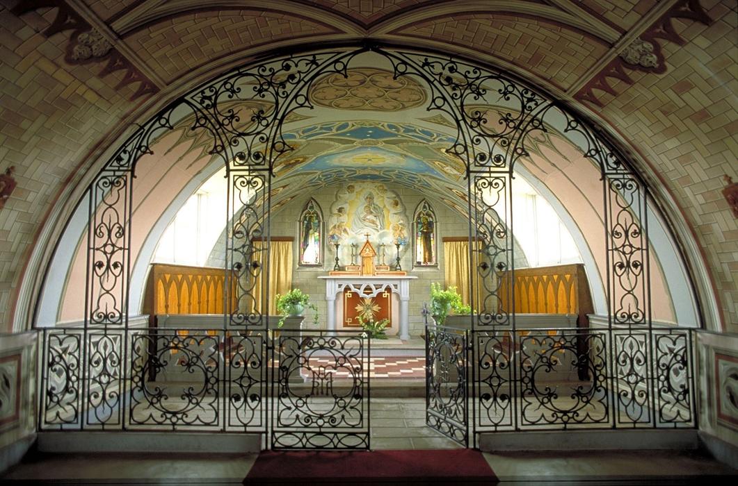 Interior de La Capilla Italiana.