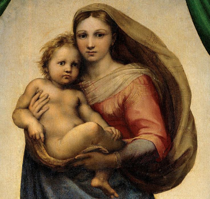Detalle de la Madonna Sixtina