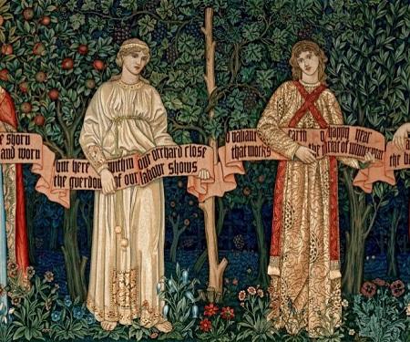 característico diseño de William Morris para tela.