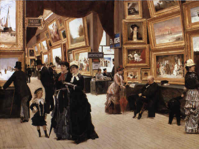 Un rincón del Salón de Pintura (Edouard Dantan, 1880).