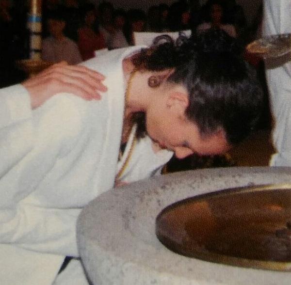 Maisara en su bautismo